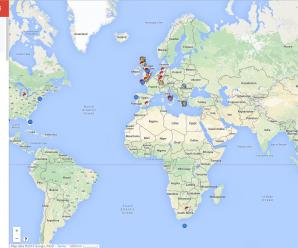 Карта локаций с покемонами
