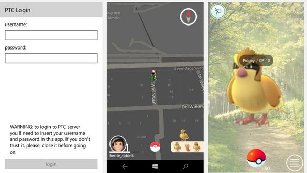 установить Pokemon GO на Windows 10 Mobile