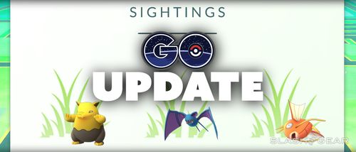 "Меню ""Sightings"" Pokemon GO"