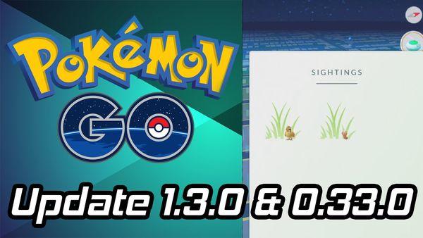 Обновление Pokemon GO 0.33