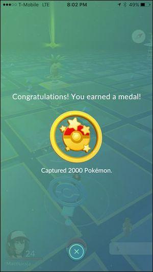 медали покемон ГО