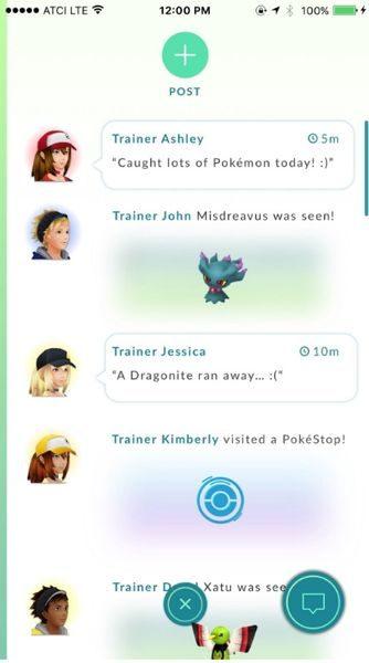 PokeGear - чат для Pokemon GO