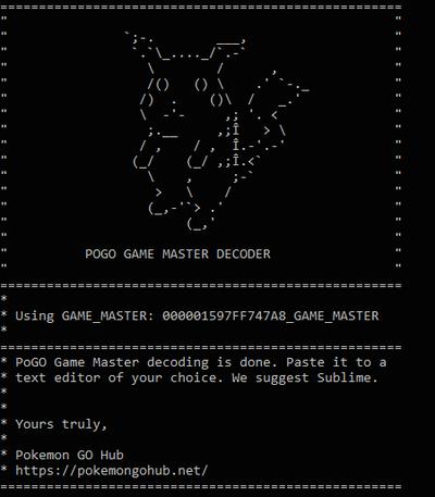 GAME_MASTER в Покемон ГО