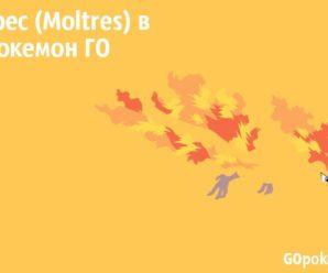 Молтрес (Moltres) в Покемон ГО