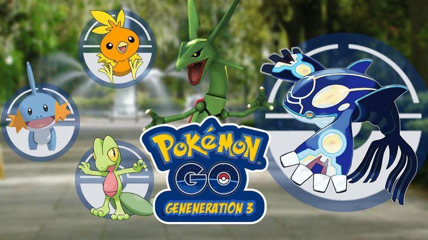 Третье поколение покемонов в Покемон ГО