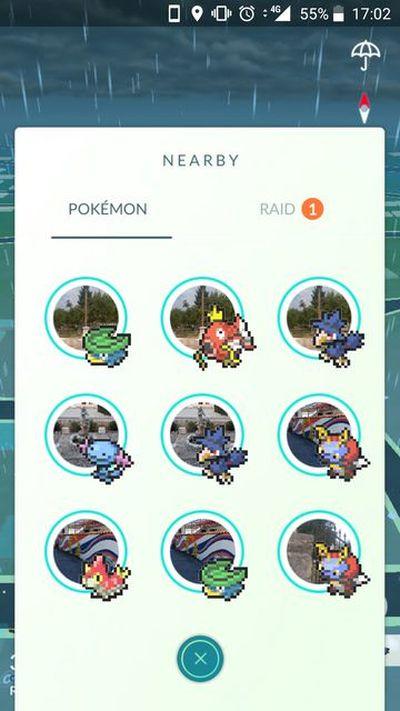 Pokemon GO в 8-ми битной графике, Shiny Murkrow в игре