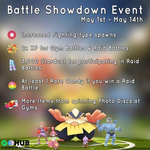 Боевой ивент в Pokemon GO!