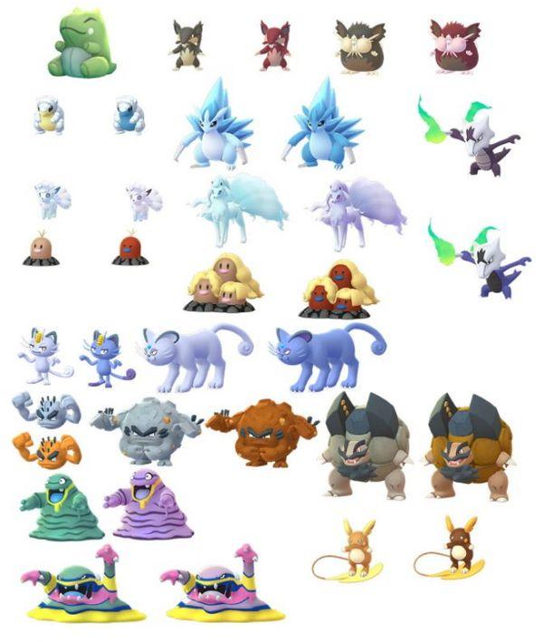 Алола покемоны в Pokemon GO