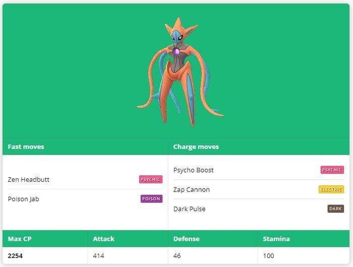 Deoxys Attack Forme(Деоксис Атакующая форма)Pokemon GO