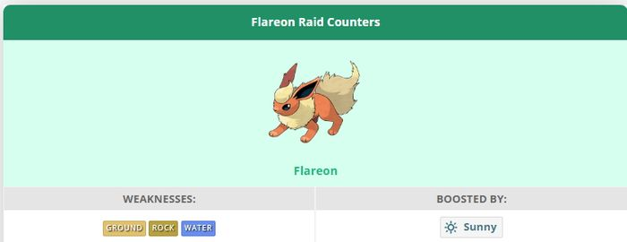 Flareon (Флареон) - рейд босс в Pokemon GO