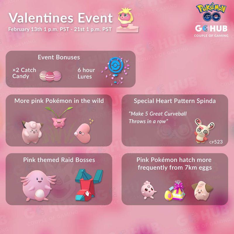 Ивент День Святого Валентина 2019 в Pokemon GO