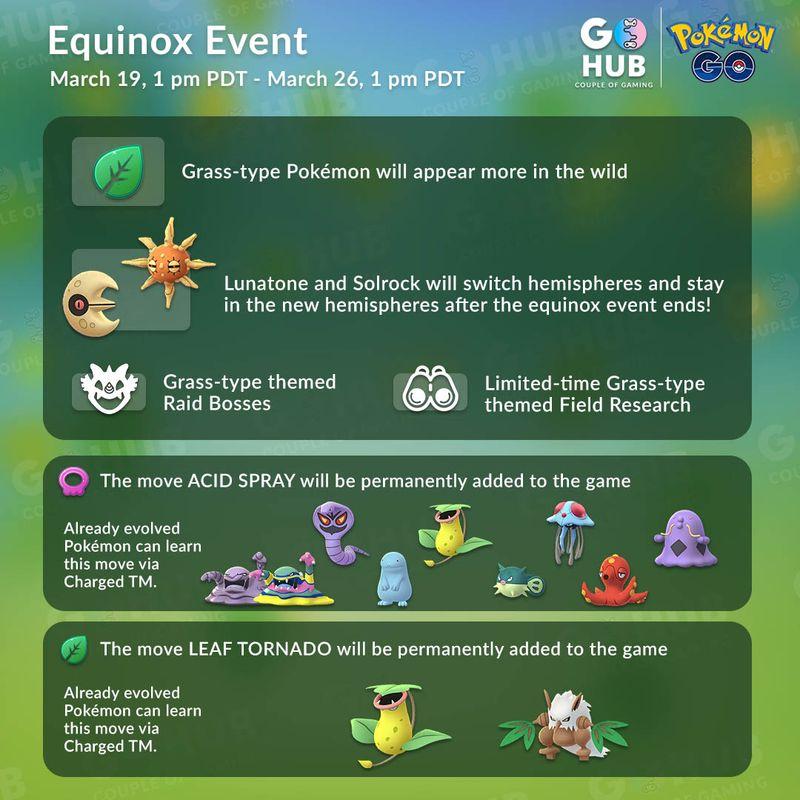 Ивент День Весеннего Равноденствия в Pokemon GO 2019: шайни Солрок и Лунатон!