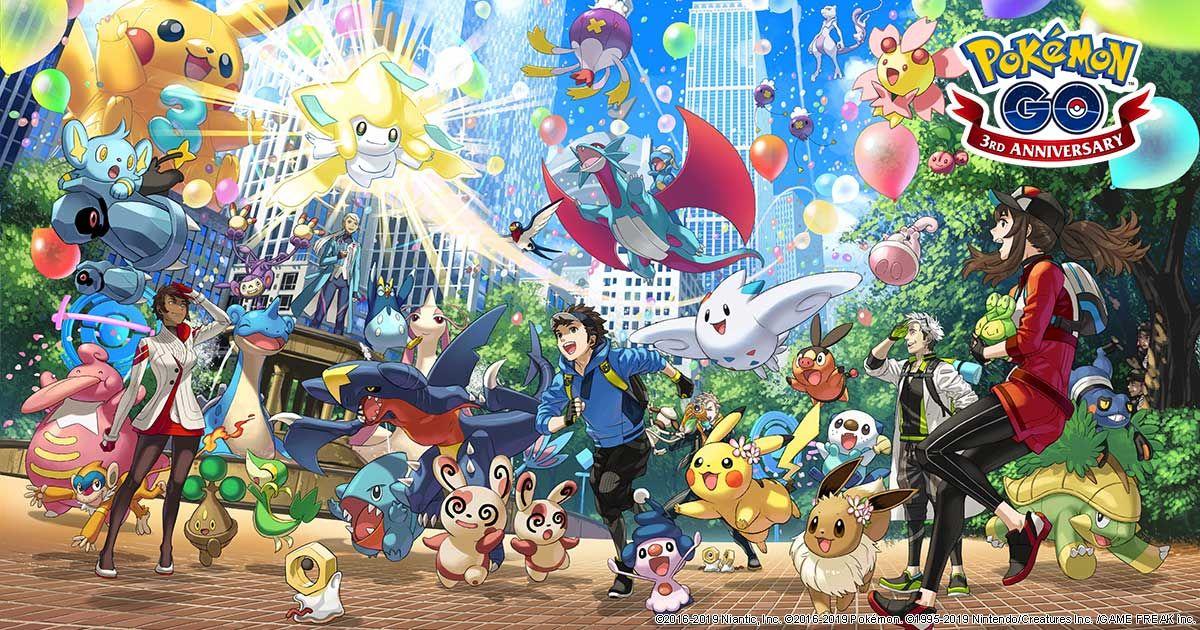 Третья годовщина Pokemon GO - все ивенты!