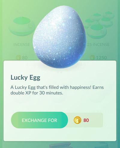 Прокачка Pokemon GO - Счастливое яйцо
