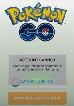 перманентный бан Pokemon GO