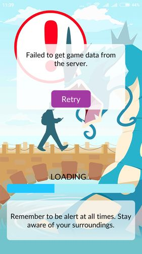 """""""Failed to get game data from the server"""" в Pokemon GO"""