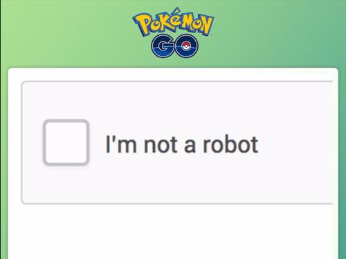 капча pokemon GO