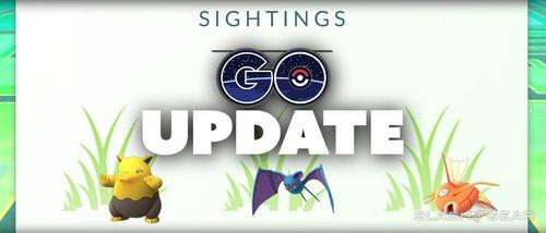 """Меню """"Sightings"""" Pokemon GO"""