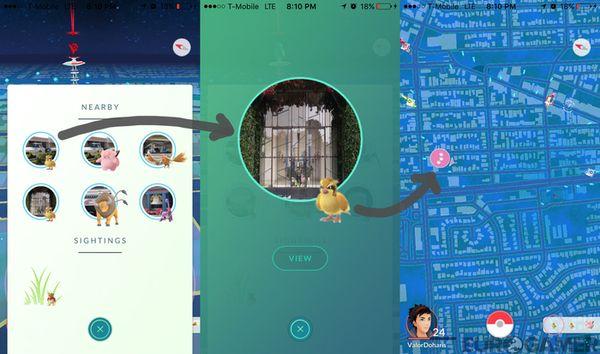 "Обновленный ""Nearby"" Pokemon GO"