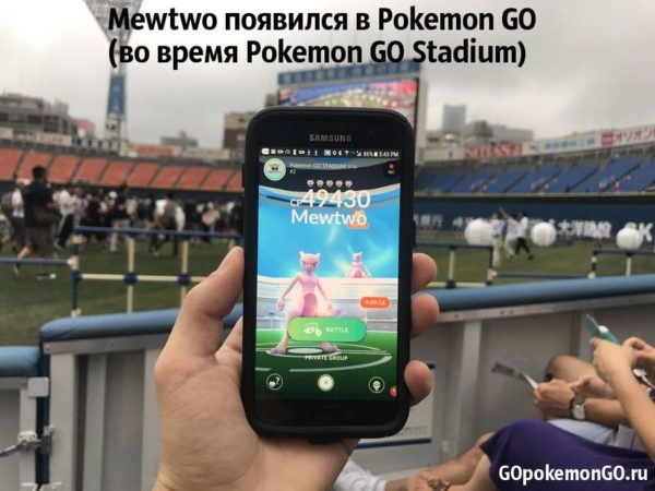 Mewtwo появился в Pokemon GO (во время Pokemon GO Stadium)