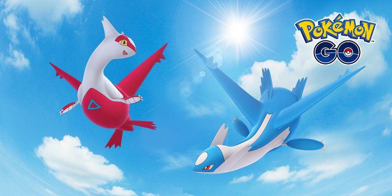 Latios и Latias появились в Pokemon GO!