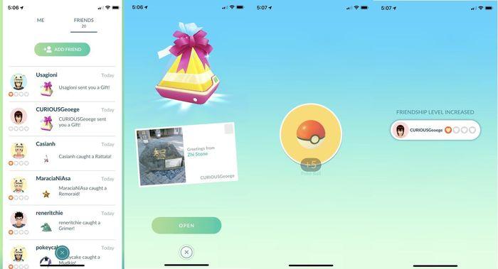Подарки в Pokemon GO