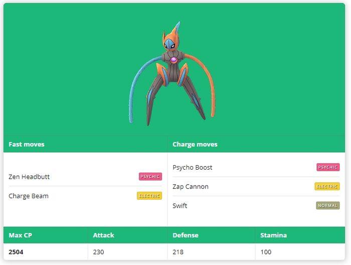 Deoxys Speed Forme(Деоксис Скоростная форма) Pokemon GO