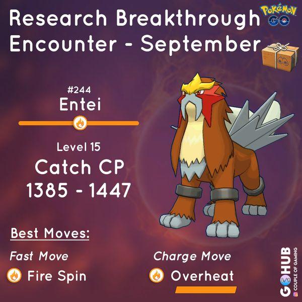 Квесты Pokemon GO в сентябре (Энтей)