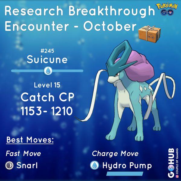Квесты Pokemon GO в октябре (Суикун)