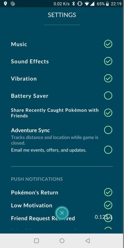 Adventure Sync в Pokemon GO - первые скриншоты интерфейса!
